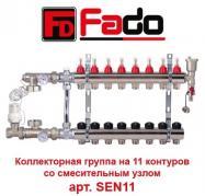 """Коллекторная группа Fado SEN11 1""""х11 контуров (пр-во Италия)"""