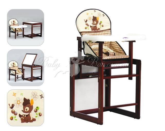 детский стульчик для кормления Lmy901c Geoby темное дерево цвета