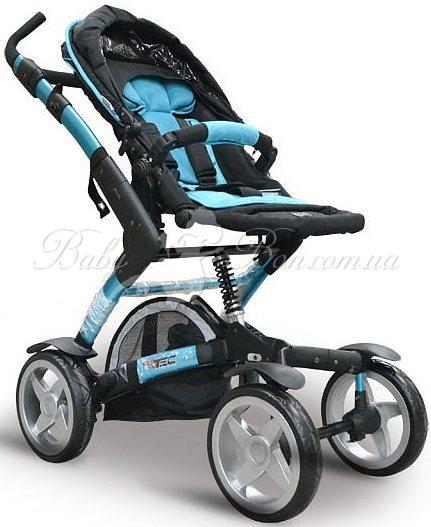Универсальная коляска 2 в 1 ABC Design 4 Tec (turquoise-black