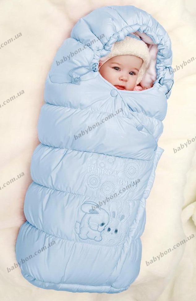 зимний конверт для новорожденного фото