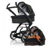 Универсальная коляска 2 в 1 ABC Design 4 Tec (orange-black)
