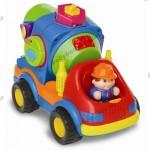 Развивающая игрушка «БЕТОНОМЕШАЛКА-СОРТЕР» (на колесах со звуком)