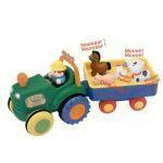 Развивающая игрушка на колесах « ТРАКТОР С ПРИЦЕПОМ» (со светом и звуком)