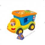 Развивающая игрушка на колесах со звуком «САМОСВАЛ-СОРТЕР»