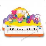 Развивающее для малышей пианино «ОРКЕСТР ЗАЙЧИКА САННИ» (со светом и звуком)
