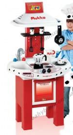 Звуковой игровой набор для юной хозяйки «Кухня - Биалетти Мукка Экспресс (100 см, в наборе 12 аксессуаров)