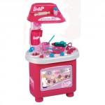 Игровой кухонный набор для юной хозяйки «Барби-кондитер» (80 см, в наборе 15 аксессуаров)