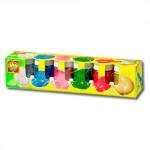 Гуашь - ВЕСЕЛЫЕ ИСКОРКИ (5 цветов, блестки, в пластиковых баночках)