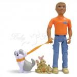 Игровой набор - ВЕРНЫЕ ДРУЗЬЯ (фигурки мальчика, щенка и кролика)