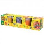 Пальчиковые краски - МАЛЕНЬКИЙ ХУДОЖНИК (4 цвета, в пластиковых баночках)