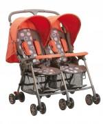 Детская летняя прогулочная коляска-трость для двойни SD593  Geoby (ORD)