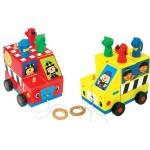 Машинка-головоломка Школьный автобус-Пожарная машина Ks Kids