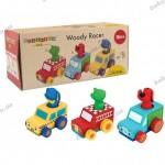 Набор деревянных машинок Гонщик Ks Kids