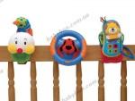 Набор игрушек (гусеничка, руль и моб. телефон) Ks Kids на коляску, кроватку, автокресло