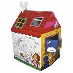 Детский картонный домик для игр и творчества KS KIDS Веселый домик