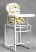Детский стульчик для кормления MY101White Geoby  (белое дерево) (цвета в ассортименте)