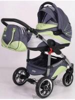 Детская универсальная коляска 2 в 1 Tako Ingis Go - цвет 01 (варианты комплектации - стальная или алюминиевая рама, надувные или пластиковые колеса)