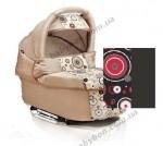 Универсальная коляска для двойни 2 в 1 Trans baby Jumper (темной серый с кругами)