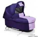 Универсальная коляска для двойни 2 в 1 Trans baby Jumper ( сирень+с.сирень)
