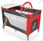 Детский манеж-кроватка Baby Design DREAM 2012 (02 -Giraffe-красный)
