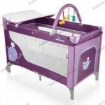 Детский манеж-кроватка  Baby Design DREAM 2012 (06  - Whale- фиолетовый)