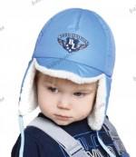Детская зимняя шапка на синтепоне с овчиной Baby Line 2013  (размеры 46-50)