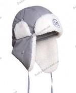 Детская зимняя шапка на синтепоне с овчиной Baby Line 2013 с ушками (размеры 46-52)