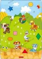 """Развивающий коврик Babypol """"Домашние животные"""" (размер 100 x 140 см)"""