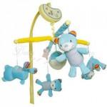 """Музыкальный мобиль """"Счастливые мишки"""" Biba Toys (голубые)"""