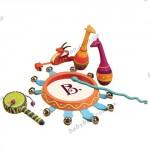 Игровой набор Battat Музыка джунглей  (6 инструментов, в сумочке)