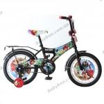 Детский 2-колесный  велосипед  DISNEY ANGRY BIRDS (диаметр колеса 16 дюймов)  Черный