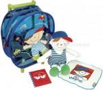 """Игровой набор Ks Kids """"Собираемся в путешествие"""" (сумка на колесиках, кукла Иван, салфетка)"""