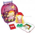 """Игровой набор Ks Kids """"Собираемся в путешествие"""" (сумка на колесиках, кукла Джулия, салфетка)"""