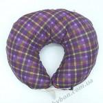 Подушка для кормления Макошь (лен, коттон)  Сиреневая диагональ