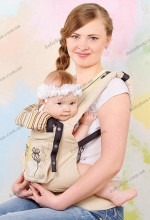 Эргономичный рюкзак-переноска Модный карапуз My Baby  (бежевый)