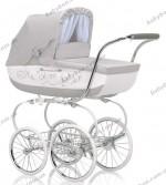 Детская коляска-люлька с сумкой Inglesina Classica Betulla 2013 (пепельный с белым)