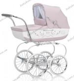 Детская коляска-люлька с сумкой Inglesina Classica Ballant Pesca 2013 (розовый с белым)