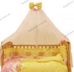 Постельный комплект (8 элементов)  Leonardo Три мишки (желтый с розовым)