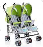 Детская коляска-трость для двойни SD209F Geoby (WFHL)