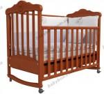 Детская кроватка ВЕРЕС Соня ЛД11 с резьбой Подсолнух (ольха)