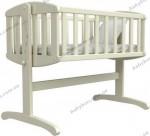 Детская кроватка ВЕРЕС Соня ЛД Люлька (слоновая кость)