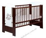 Детская кроватка с ящиком Klups Teddy Bear (темный орех/слоновая кость)