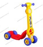 Детский четырехколесный самокат Pilsan Mini Scooter (желтый)