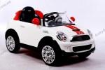 Детский электромобиль Geoby W446EQ-K311 (Миникупер белый с красными полосками)
