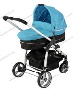 Детская универсальная коляска 2 в 1 Kiddy Clickn move 2 (бирюзовый)