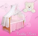 Комплект постельного белья Tuttolina (7 элементов) Teddy Bear (розовый, голубой, салатовый)