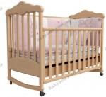 Детская кроватка ВЕРЕС Соня ЛД11 с резьбой Мишка (бук)