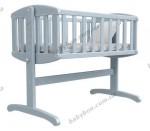 Детская кроватка-колыбель ВЕРЕС Соня ЛД (патина голубая)