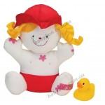 Игрушка для ванной Девочка Джулия с утенком Ks Kids