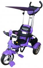 Детский трехколесный велосипед Mars Trike надувные колеса (фиолетовый)